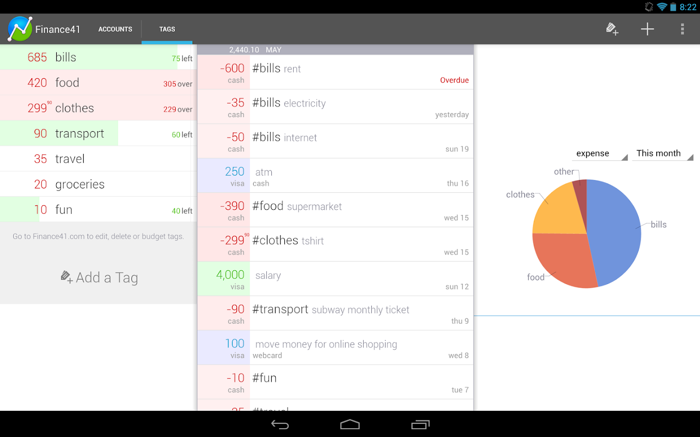 Finance41 - Expense Manager- screenshot