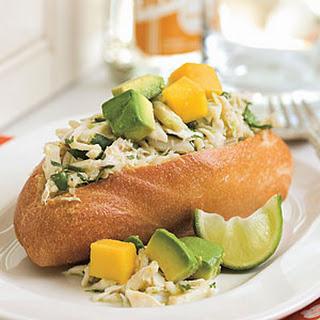 Caribbean Crab Sandwich.