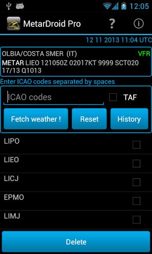 MetarDroid Pro Metar -Taf