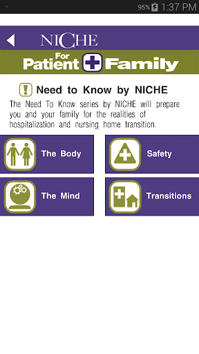 NICHE For Patient+Family