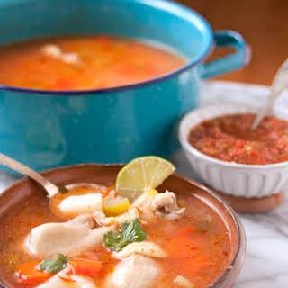 Caldo de Pollo (Homemade Chicken Soup).