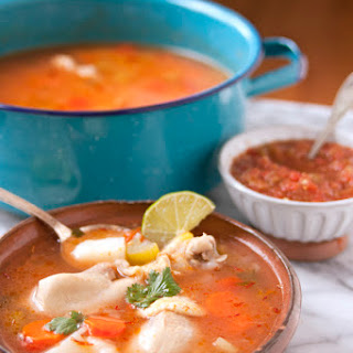 Caldo de Pollo (Homemade Chicken Soup).