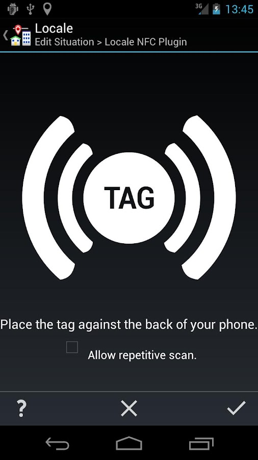 Locale NFC Plugin - screenshot