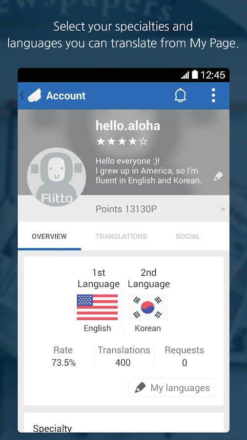 Flitto-Translate faster&better - screenshot