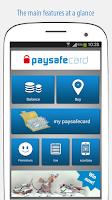 Screenshot of paysafecard – pay cash online