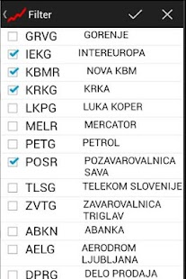 Tečajnica Ljubljanske borze - screenshot thumbnail