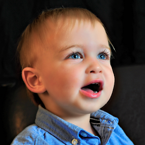 Harrison by Emily Vickers - Babies & Children Toddlers ( babies, eyelashes, blue eyes, children, smile, toddler, boy )