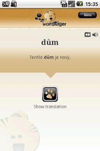Wordtiger - language learning - screenshot thumbnail