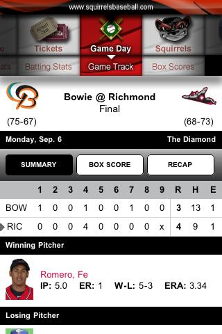Richmond Flying Squirrels - screenshot