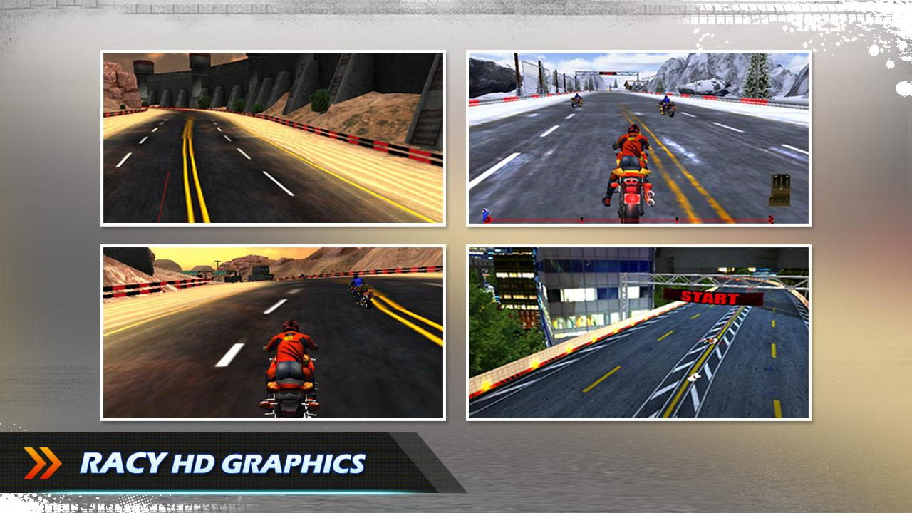 Screenshots of Bike Race 3D - Moto Racing for Android