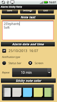 Screenshot of Alarm Sticky Note (reminder)