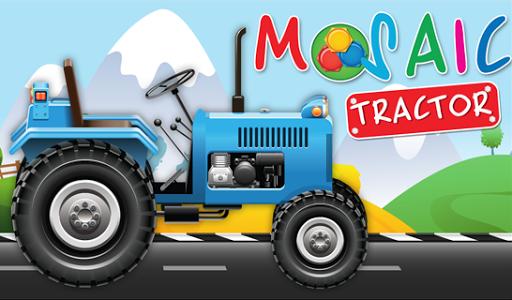 動畫拼圖農用拖拉機