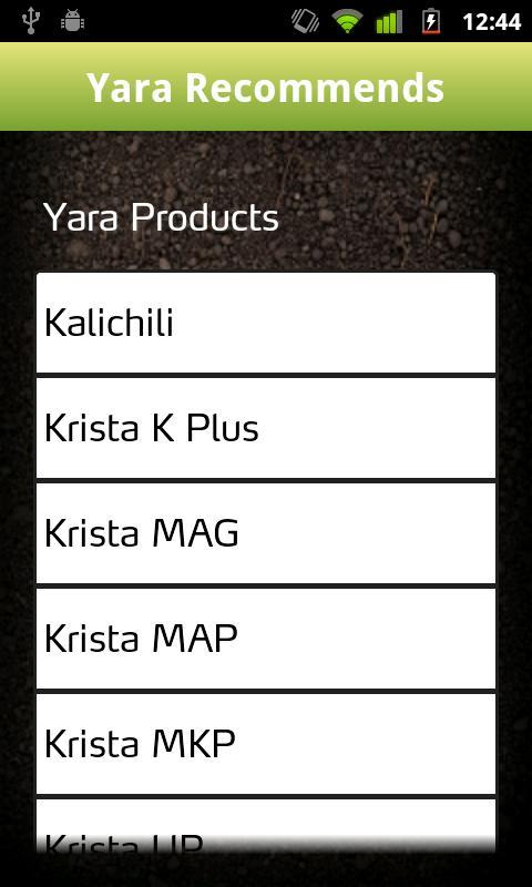 Yara CheckIT: captura de tela