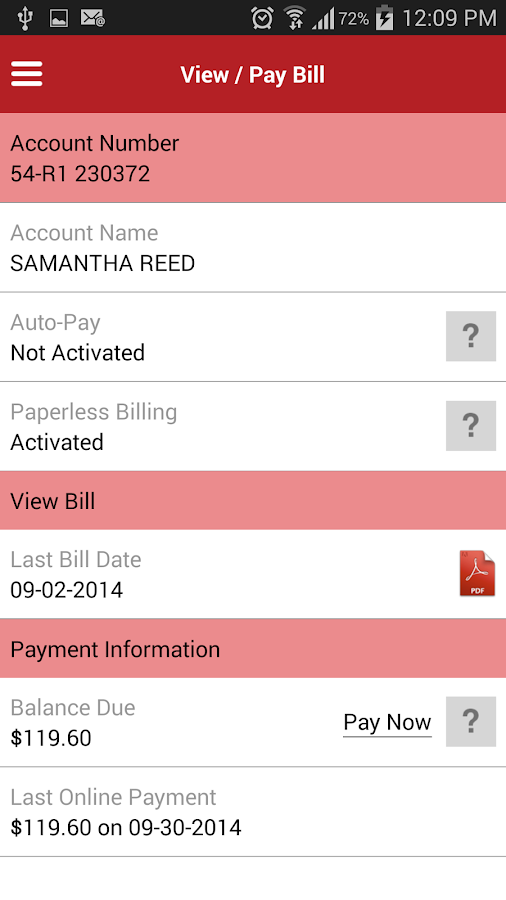 MyOnlineBill- screenshot