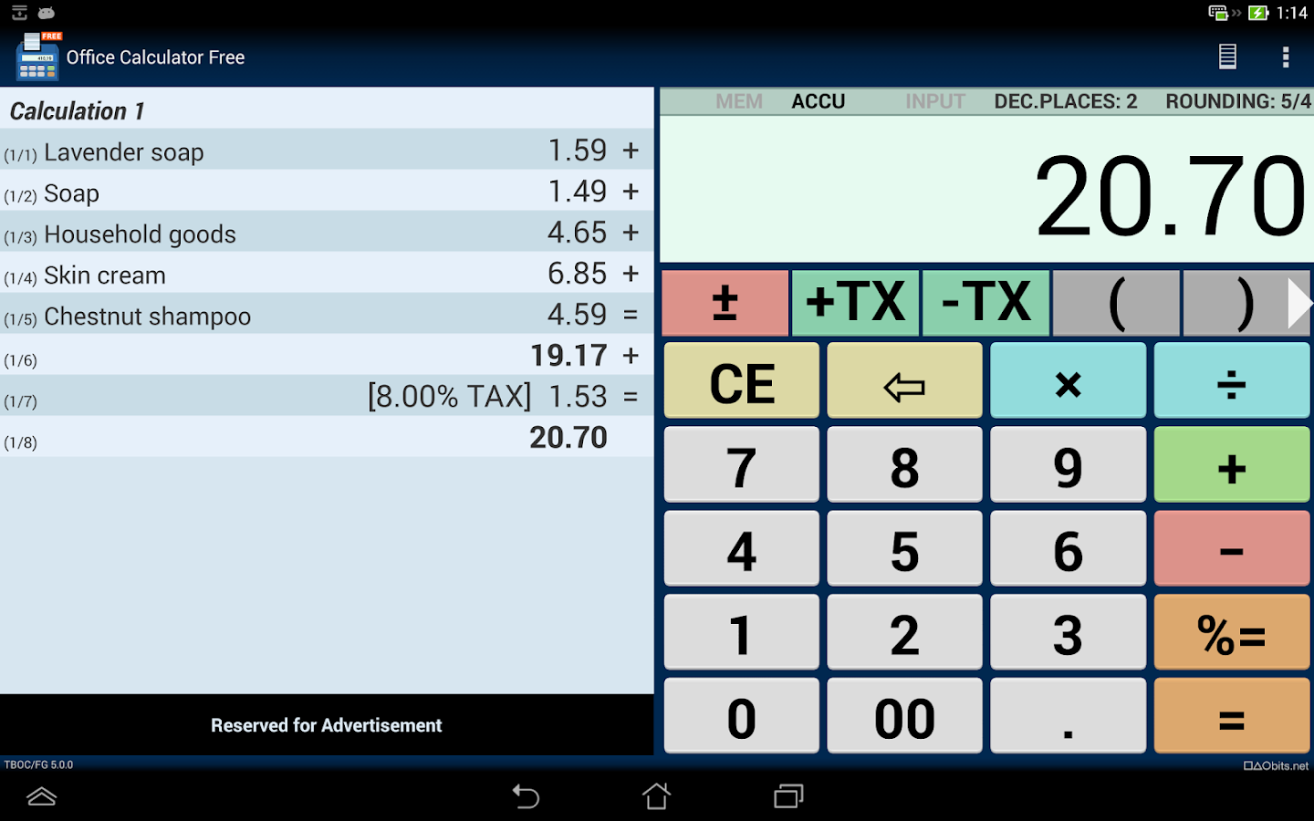 Office Calculator Free- screenshot