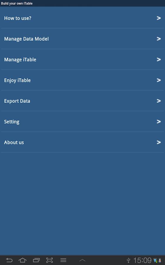 iTable - screenshot