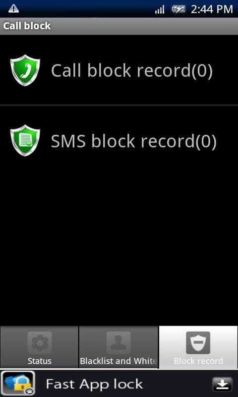 Call block - screenshot
