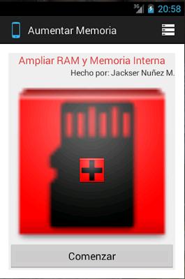 RAM and Interna Memory Enlarge - screenshot