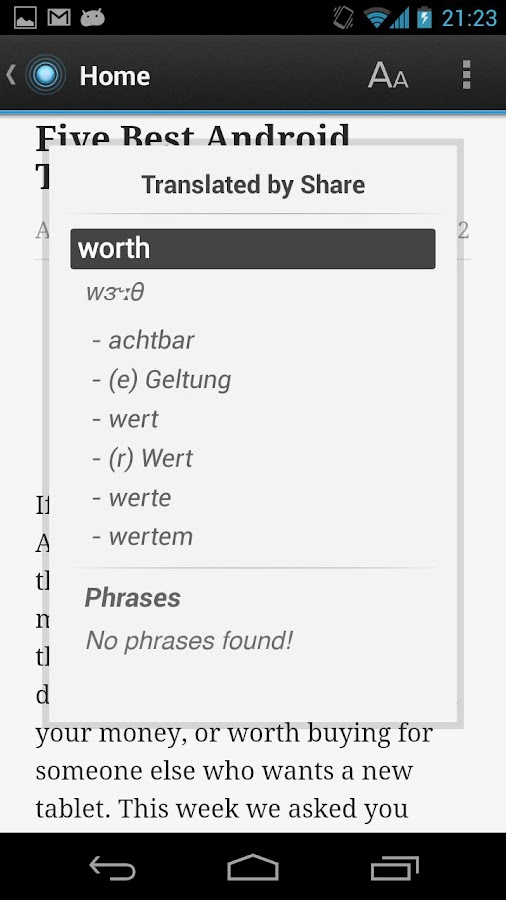Free Dict German English - screenshot