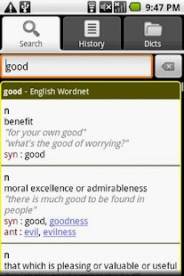 English Thesaurus Dictionary - screenshot thumbnail