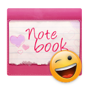 Pink Notebook GO SMS Theme