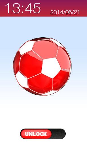 炙熱的3D足球鎖屏