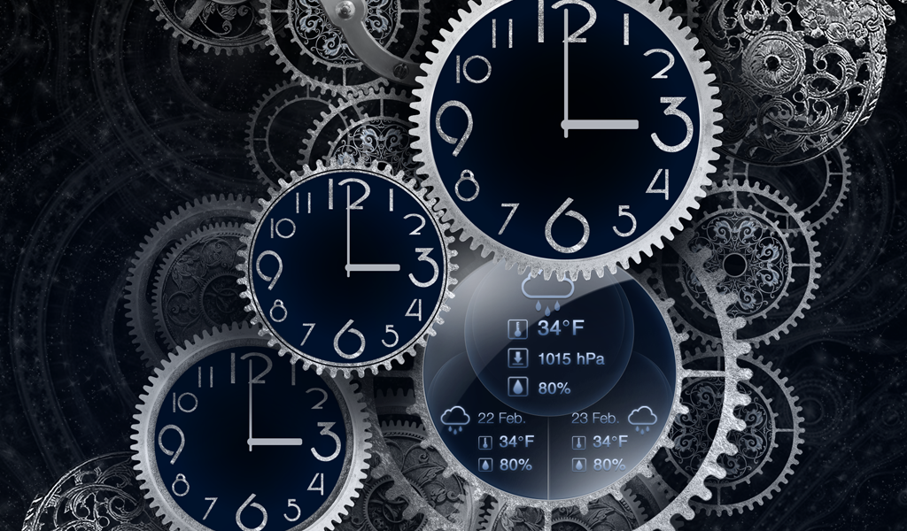 Black Clock Live Wallpaper HD- screenshot
