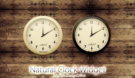 ナチュラルなアナログ時計ウィジェット【モノトーン】