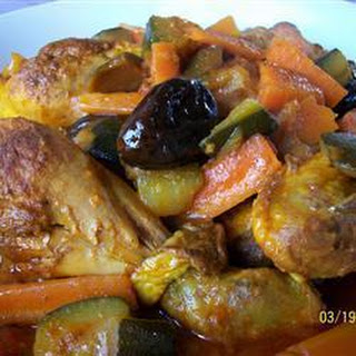 Chicken Tagine With Preserved Lemons And Olives.