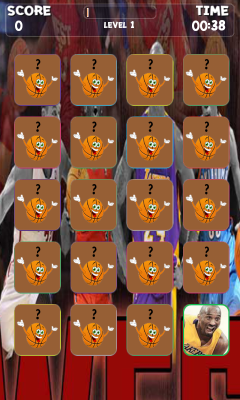 Basketball All Stars Memory - screenshot