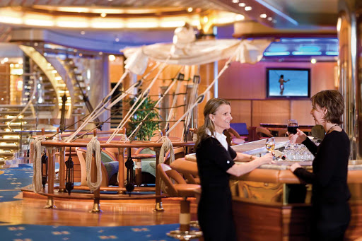Independence-of-the-Seas-Schooner-Bar - The nautically themed Schooner Bar is a popular watering hole on Independence of the Seas.