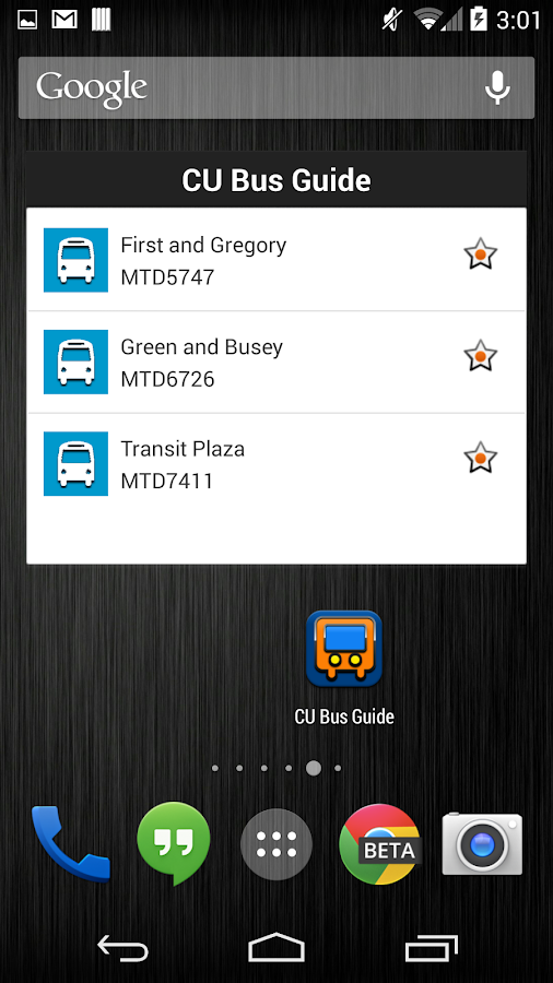 CU Bus Guide - screenshot