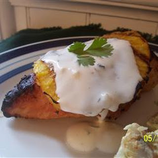 Coconut-Lime Chicken with Grilled Pineapple.