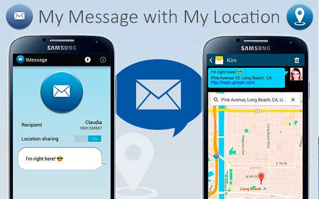 IMessage - SMS My Location - screenshot