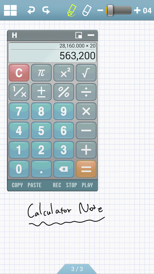 Calculator Note (Quick Memo) - screenshot