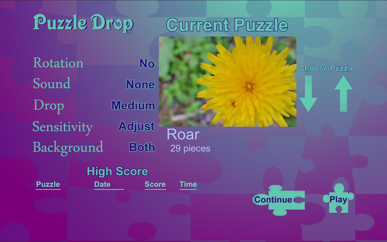 Puzzle Drop - Flower Set- screenshot