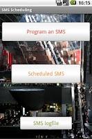 Screenshot of SMS Text Message Scheduling