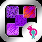 Purple Animal Prints Wallpaper icon
