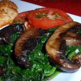 Portabello Spinach Saute Recipe