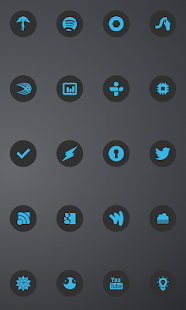 Holo Dark C Theme Go/Nova/Apex - screenshot thumbnail