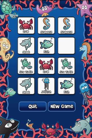Underwater Memory Match Free- screenshot