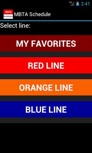 MBTA Realtime Schedule