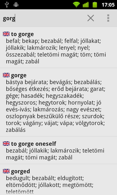Hungarian Dictionary - screenshot