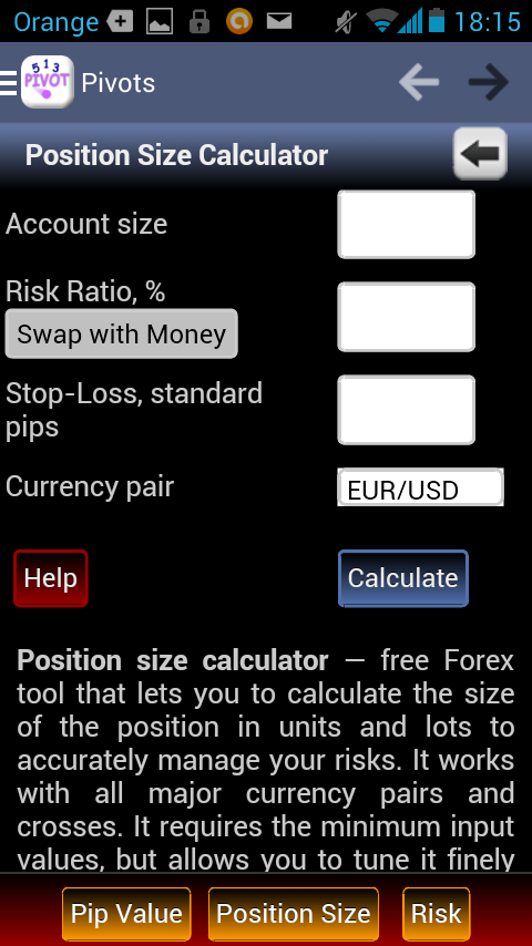pivot calculator The first thing you're going to learn is how to calculate pivot point levels the pivot point and associated support and resistance levels are calculated by using the last trading session's open, high, low, and close since forex is a 24-hour market, most forex traders use the new york closing.