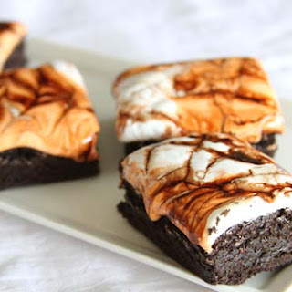 Halloween Marshmallow Brownies.