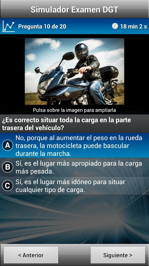 Test Motocicleta A1/A2 - screenshot