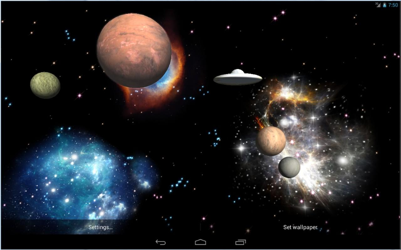 3D Space Live Wallpaper Full - screenshot