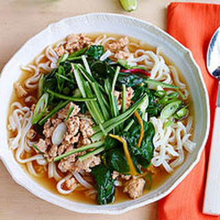 Tingly Chicken & Greens Noodle Bowls
