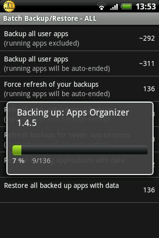 Titanium Backup ★ root– captură de ecran