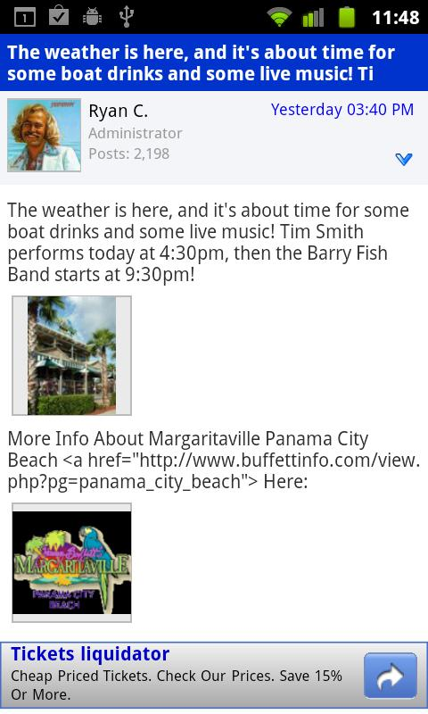 Jimmy Buffett Info - screenshot